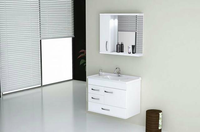 gabinete novo marca pixxo encontra se na caixa  Vazlon Brasil -> Gabinete De Banheiro Bosi