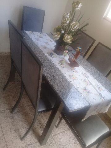 Mesa de granito semi nova 6 cadeiras r ofertas - Mesa de granito ...
