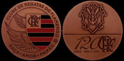 93acf3ce5f medalha de bronze 120 anos do clube de regatas do flamengo   OFERTAS ...