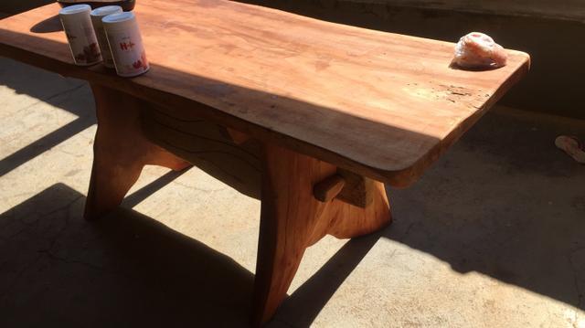 Mesa de madeira rustica madeira de angico vazlon brasil for Mesa 2 metros comensales