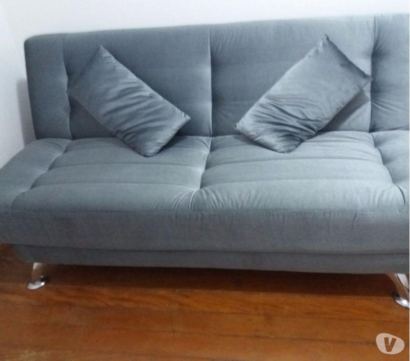 6f29976b6 sofa cama casal com 2 almofadas decorativas top facto marrom montana ...