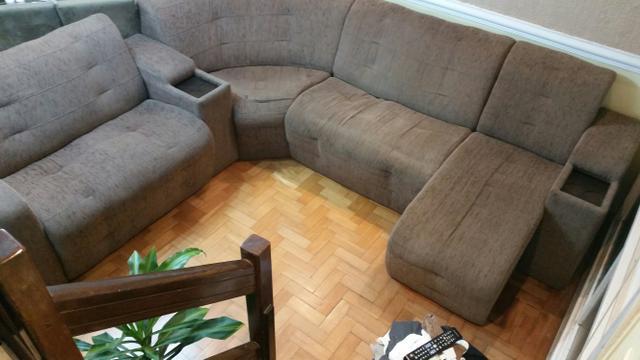 Estofado chaise dois canto dois ofertas vazlon brasil for Sofa de canto 6 lugares
