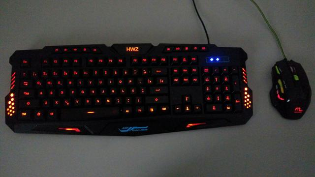 Kit mouse e teclado gamer top
