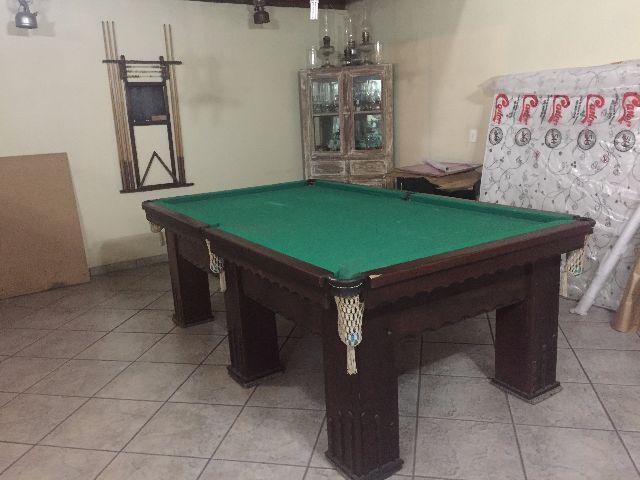 Mesa de sinuca de ferro comercial em otimo estado com for Mesa de ping pong usada