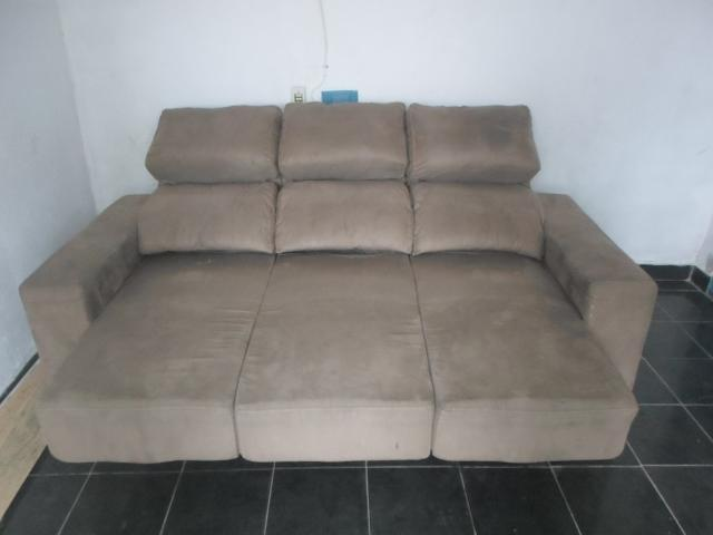 Sofa suede retratil 2 lugares super confortavel ofertas for Sofa 03 lugares