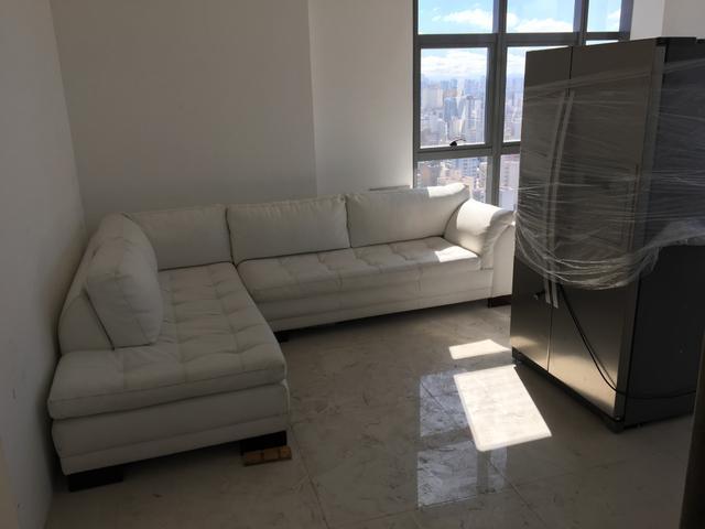 sofa de canto em couro branco r [ OFERTAS ] | Vazlon Brasil