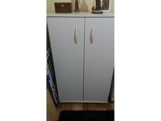 Adesivo De Natal ~ armario multiuso duas portas branco Vazlon Brasil