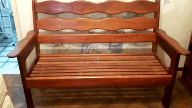 Sofa imbuia pura rustico colonial ofertas vazlon brasil - Sofas estilo colonial ...