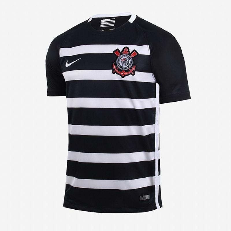 d5e3a58c91 camiseta nike corinthians ii 2017 2018 torcedor masculina preto cod ...