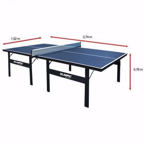 Mesa de ping pong com rede e um par de raquete ofertas for Mesa de ping pong usada