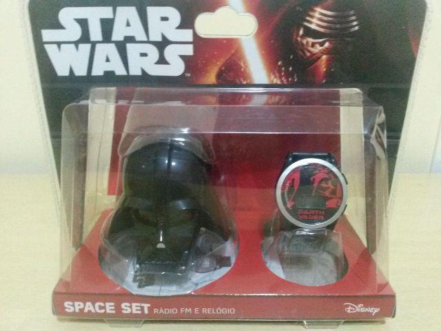 06abb4c2656 kit space set star wars stormtrooper relogio digital radio fm ...