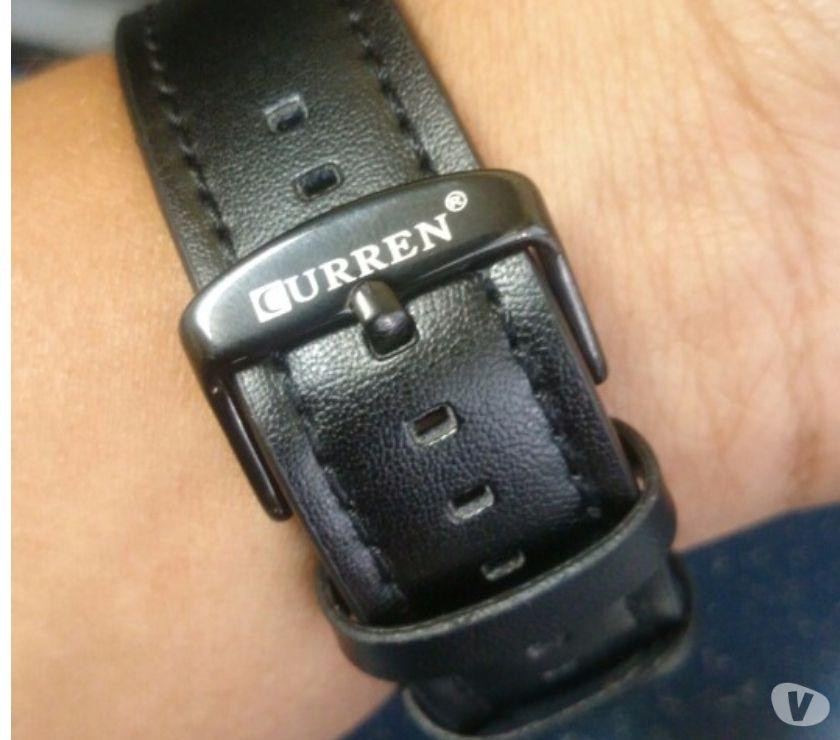 17361806fe0 relogio masculino curren pulseira de couro esportivo   OFERTAS ...
