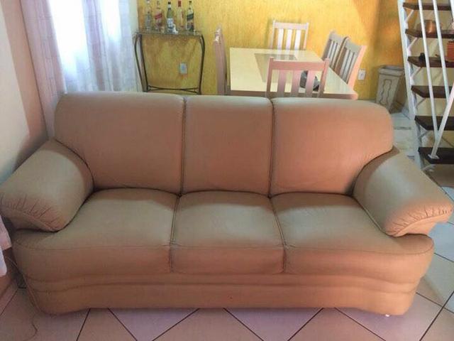 sofa em corino bege r 【 OFERTAS 】   Vazlon Brasil