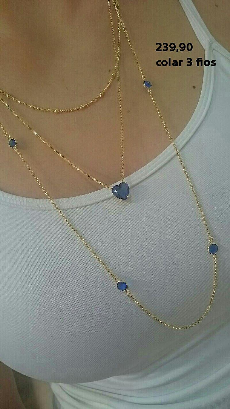 fd66b19680a colar bolinha elegante folheados a ouro 18 k lindo   OFERTAS ...