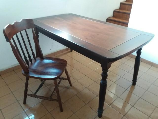 Mesa estilo colonial com 6 cadeiras ofertas vazlon for Mesas estilo colonial