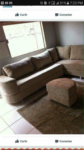 Mesa com quatro cadeiras sofa em l de canto sala ofertas for Sofa de canto 8 lugares