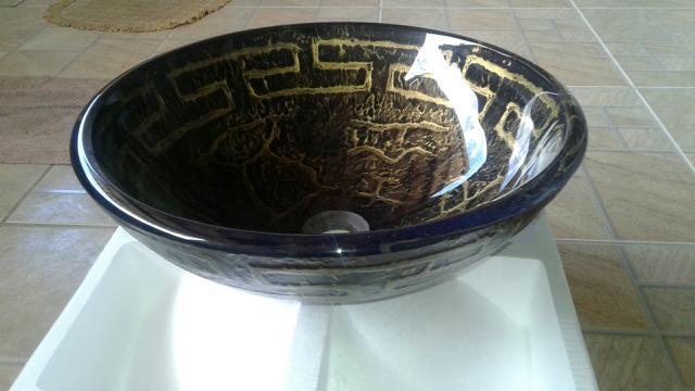 cuba de sobrepor redonda vidro nova na caixa  Vazlon Brasil -> Cuba Para Banheiro Redonda