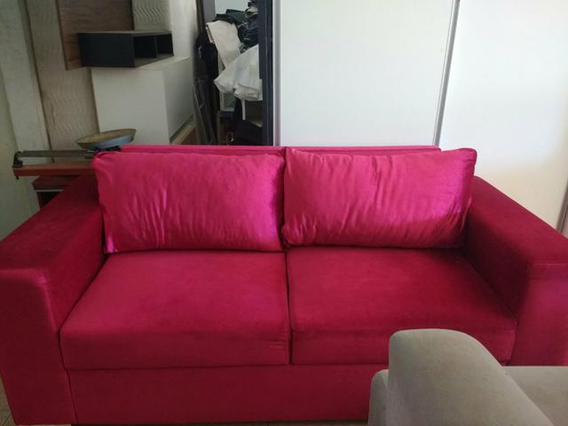 sofa de 2 lugares rosa ofertas vazlon brasil. Black Bedroom Furniture Sets. Home Design Ideas