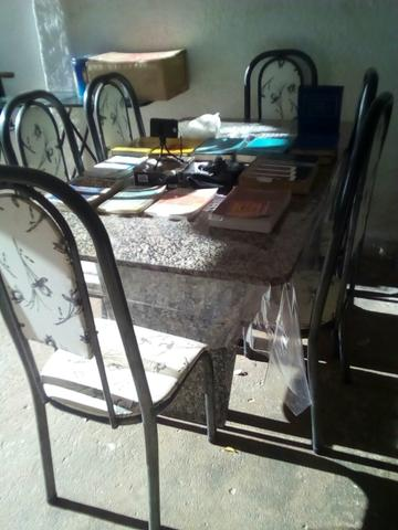 Conjunto de mesa em granito bahia com 6 cadeiras ofertas - Mesa de granito ...
