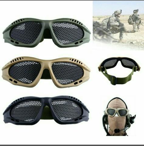 f8e36d1e3ebcc oculos de protecao telado airsoft preto produto   OFERTAS     Vazlon ...