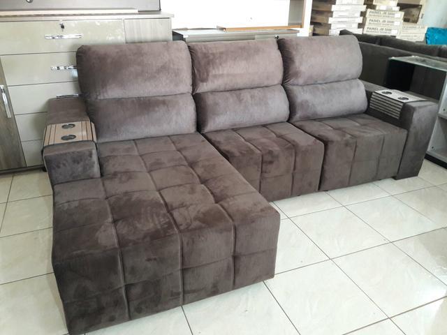 Sofa Retratil Reclinavel Com Chaise Ofertas Vazlon