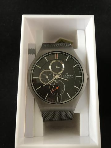 27644f1af7a relogio feminino skagen modelo skw2220 pulseira em couro a prova d ...