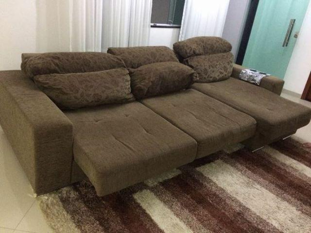 sofa 3 lugares com assento retratil turin sued ofertas On sofa 6 lugares reclinavel e assento retratil