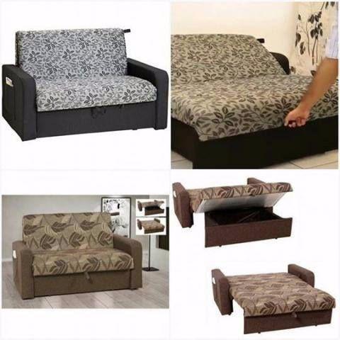 Sofa cama casal dois lugares com bau ofertas vazlon for Sofa cama oferta alcampo