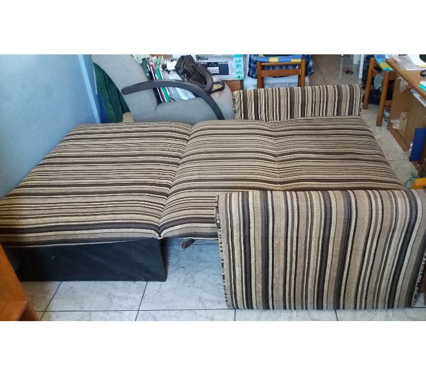 sofa cama dois lugares com bau [ OFERTAS ]   Vazlon Brasil