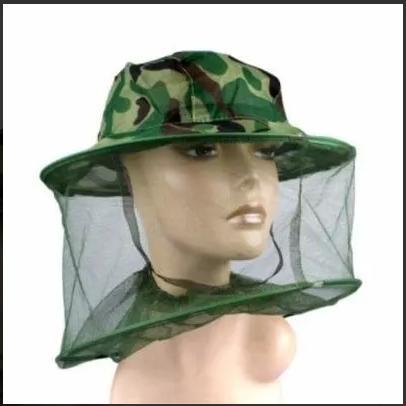 chapeu com mosquiteiro camuflado tela camping pesca   OFERTAS ... 24fa99a47d6