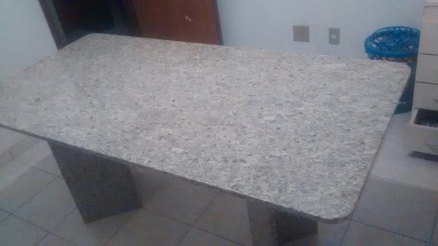 Mesa de jantar para 6 pessoas com pes de granito vazlon - Mesa de granito ...