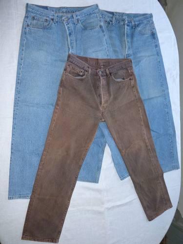 Conjunto De 3 Calças Jeans Levis 501 Americanas Usadas 1d4742f8d80