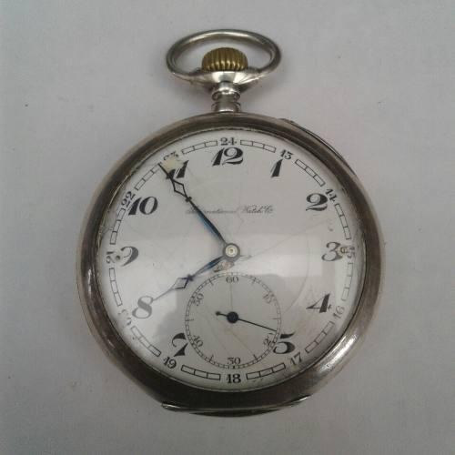 e93b2b9cd56 Relógio De Bolso Antigo Prata Iwc International Watch Co.